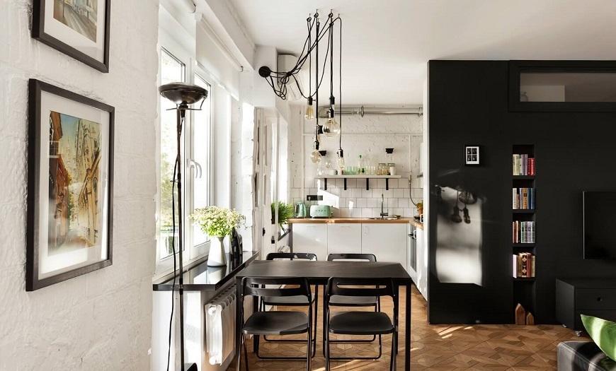 маленькая кухня Лофт