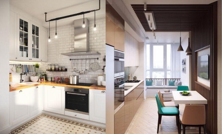 дизайн стен в маленькой кухне