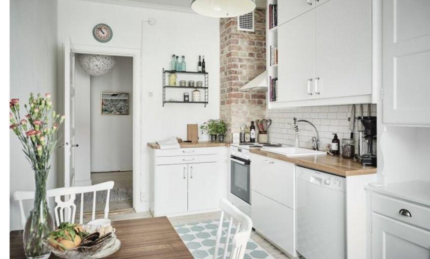 маленькая кухня угловой гарнитур фото