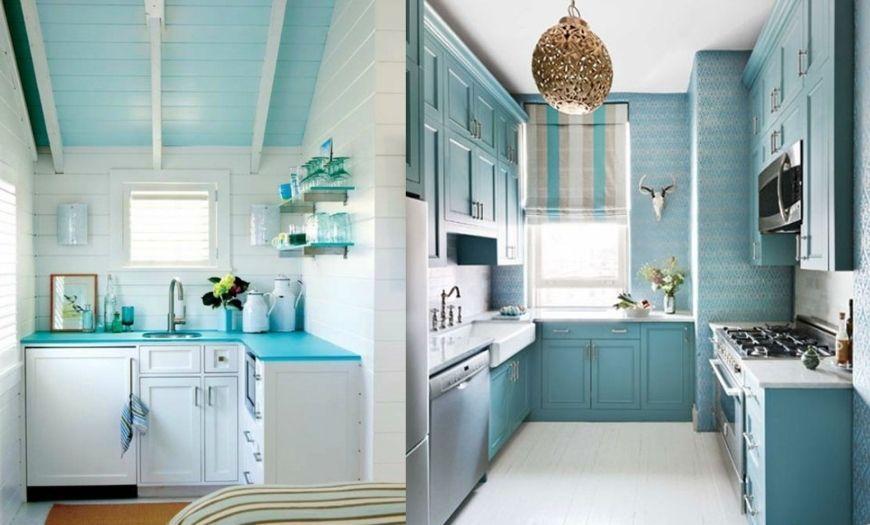 фото стен на маленькой кухне