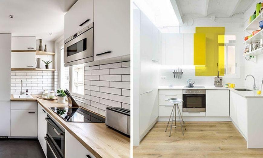 какой цвет маленькой кухни