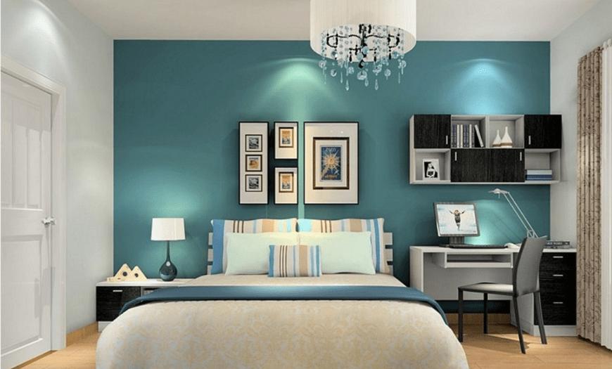 спальня кабинет в одной комнате