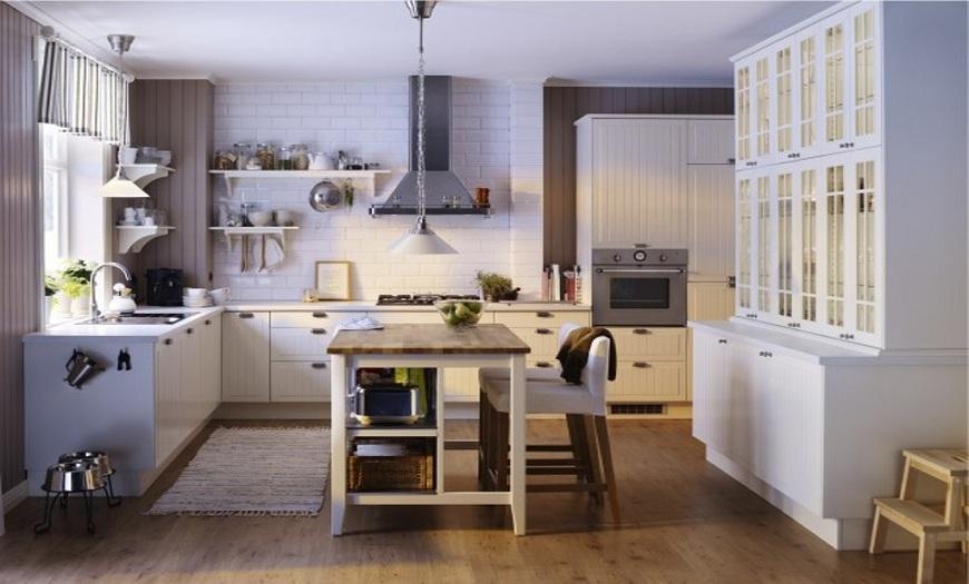 кухня-гостиная икеа