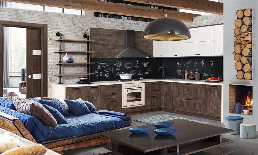 декор кухни в стиле Лофт своими руками