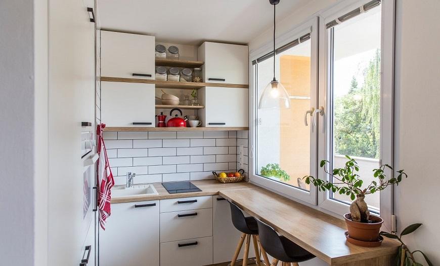 кухня на балконе