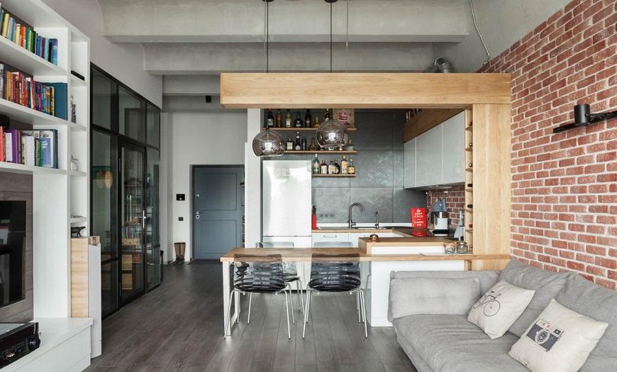 кухня в стиле Лофт в квартирах