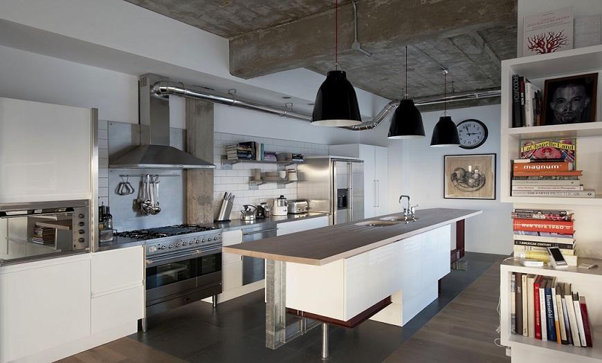 оформление кухни в стиле Лофт