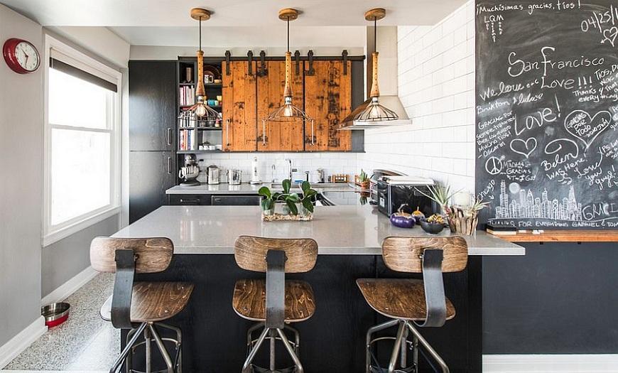 Кухня в стиле Лофт маленькая площадь