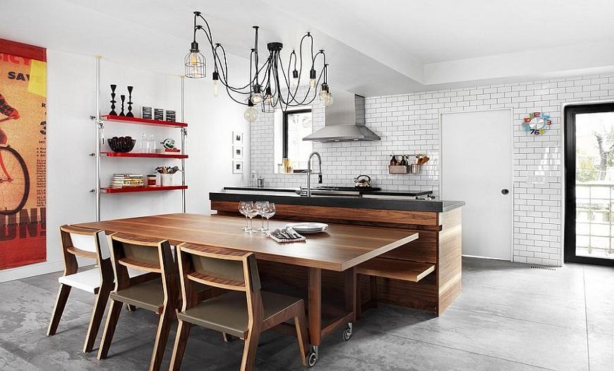 кухня Лофт дерево