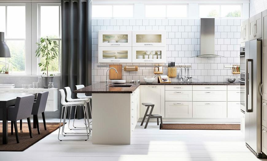 кухни икеа фасады со стеклом