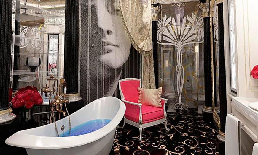 Ванная в стиле арт-деко.