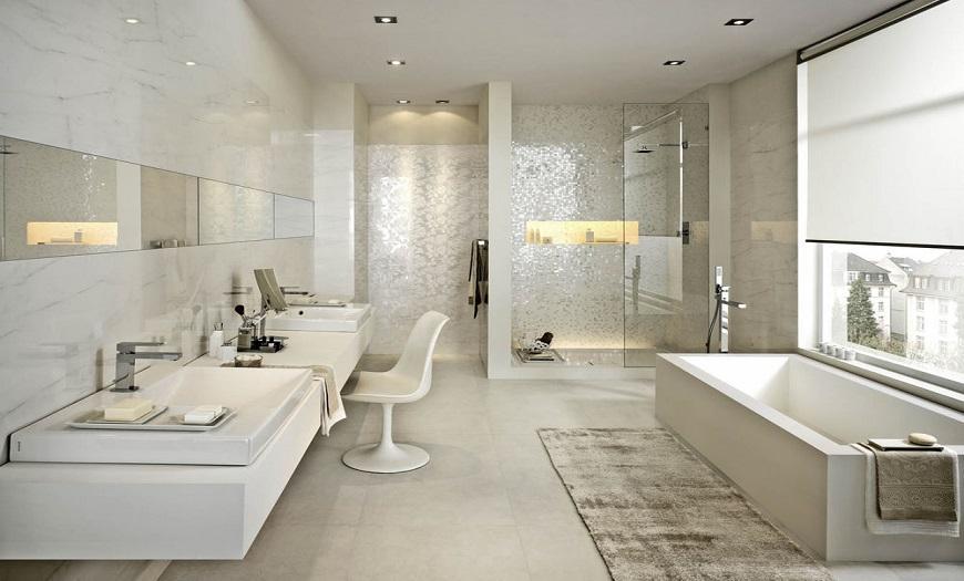 Белый цвет ванны