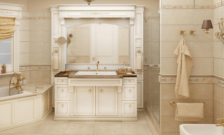 ванная в стиле классика