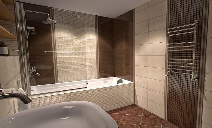 ванная комната в коричневых цветах