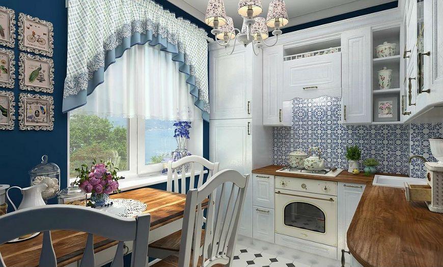 Кухня в стиле прованс маленькая