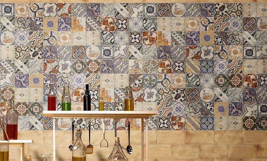 Кухня в стиле прованс плитка
