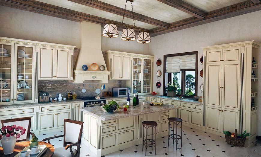 Кухня в стиле прованс в частном доме