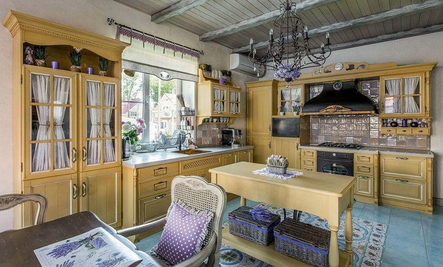 Кухня в стиле прованс-шебби