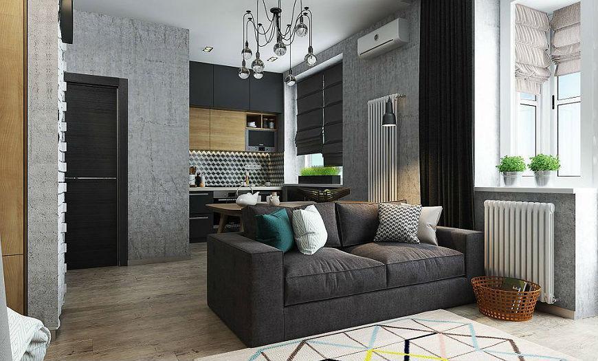 Квартира-студия гостиная