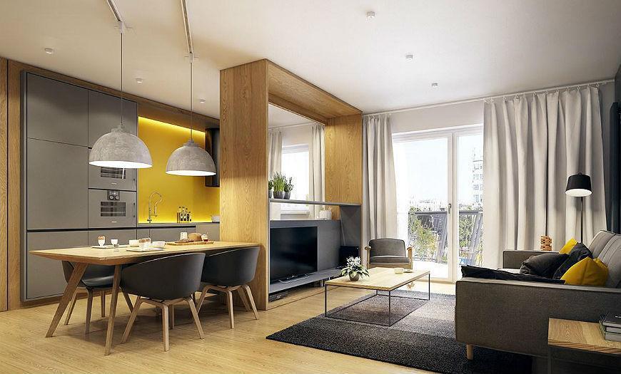 Квартира-студия кухня