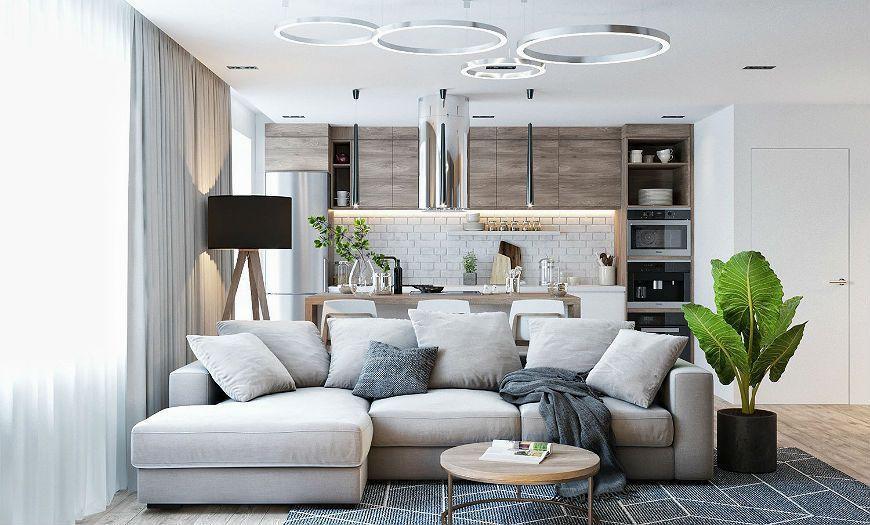 Квартира-студия пример декора 1