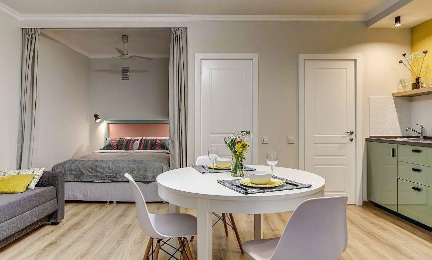 Квартира-студия спальня