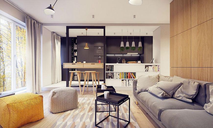 Квартира-студия зонирование