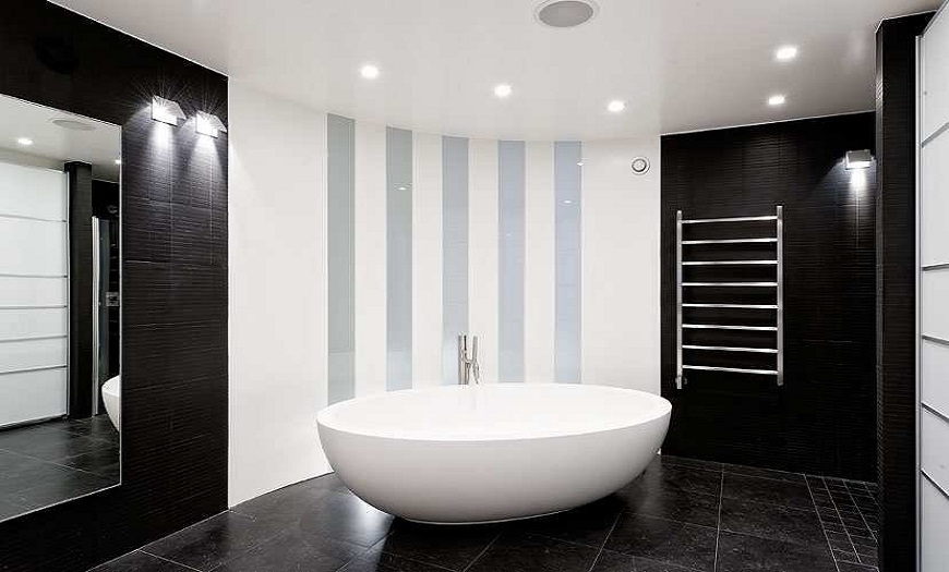 Линии в ванной
