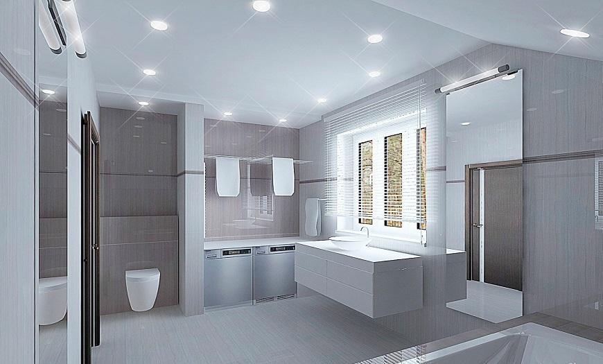 стиль минимализм для ванной