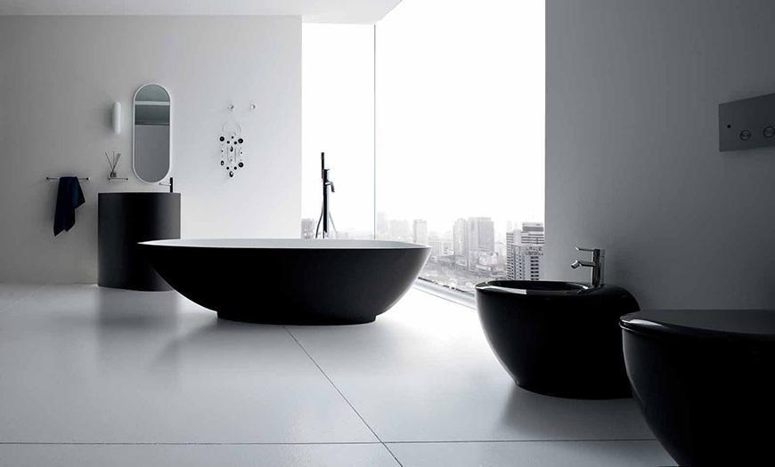 Минимализм в дизайне ванной комнаты