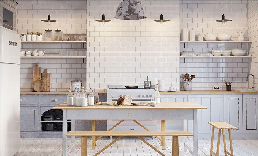 Пример кухни в скандинавском стиле-1