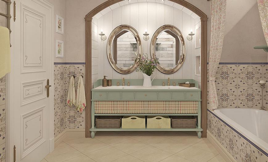 Ванна в стиле прованс.