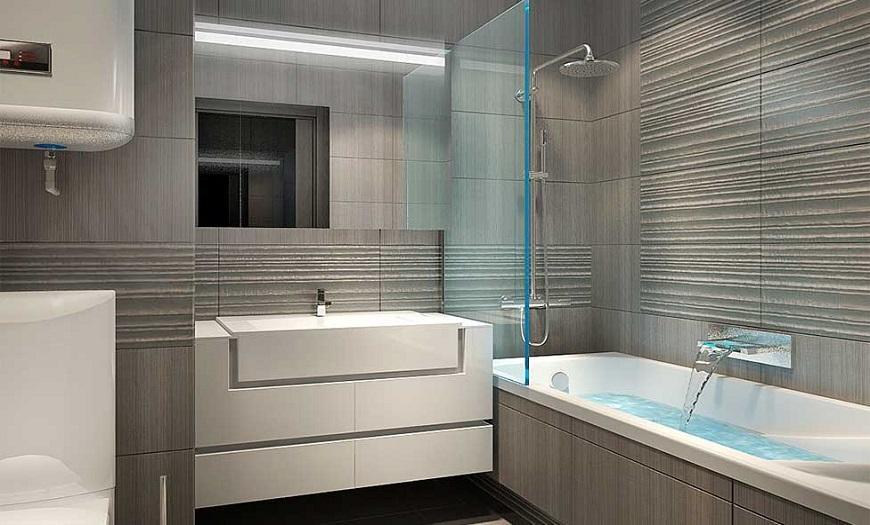 Серо-бежевая ванна