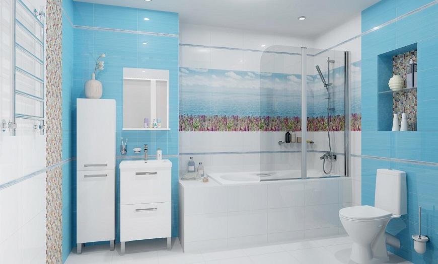 ванная в в синем цвете