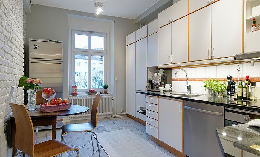 Скандинавская кухня дизайн