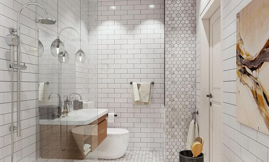 Ванная в скандинавском стиле.