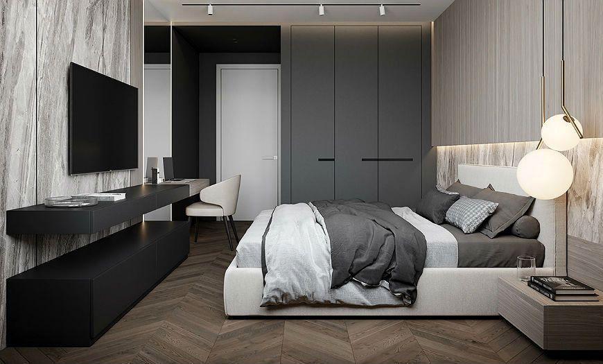 Интерьер спальни в духе минимализма