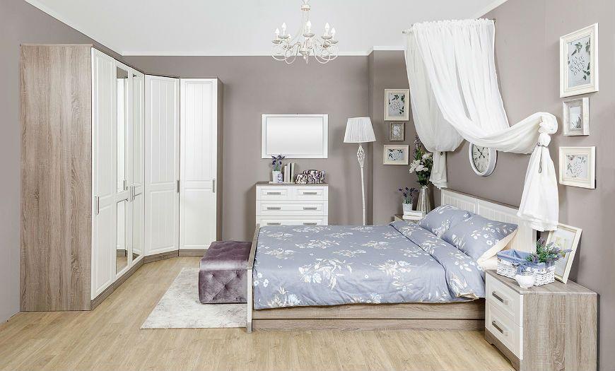 обои в стиле прованс для спальни