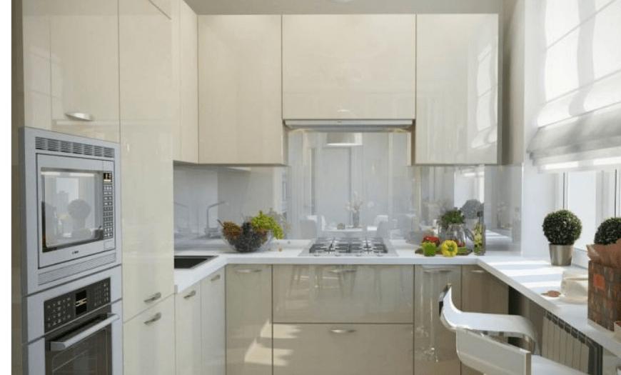 Кухня в бежевом цвете