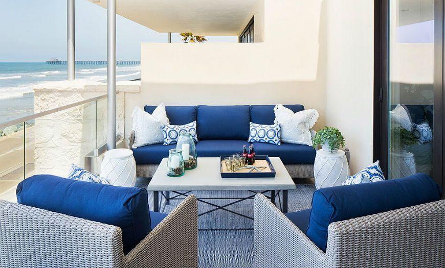 Балкон в морском стиле
