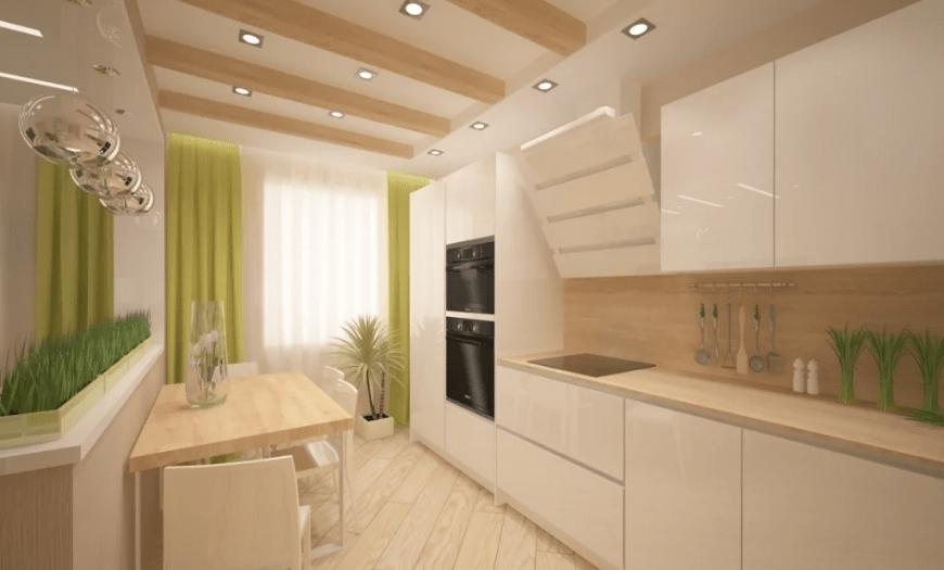 кухня 9 кв м в эко стиле