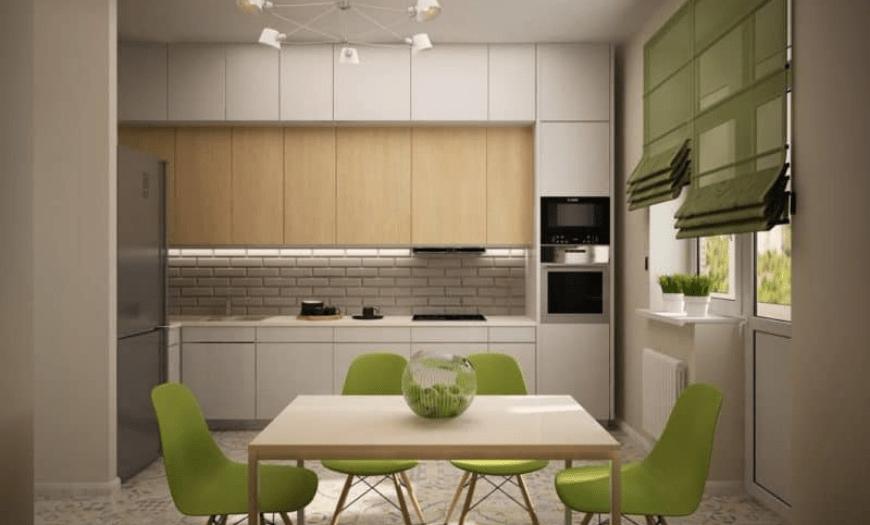 кухня 9 кв м дизайн