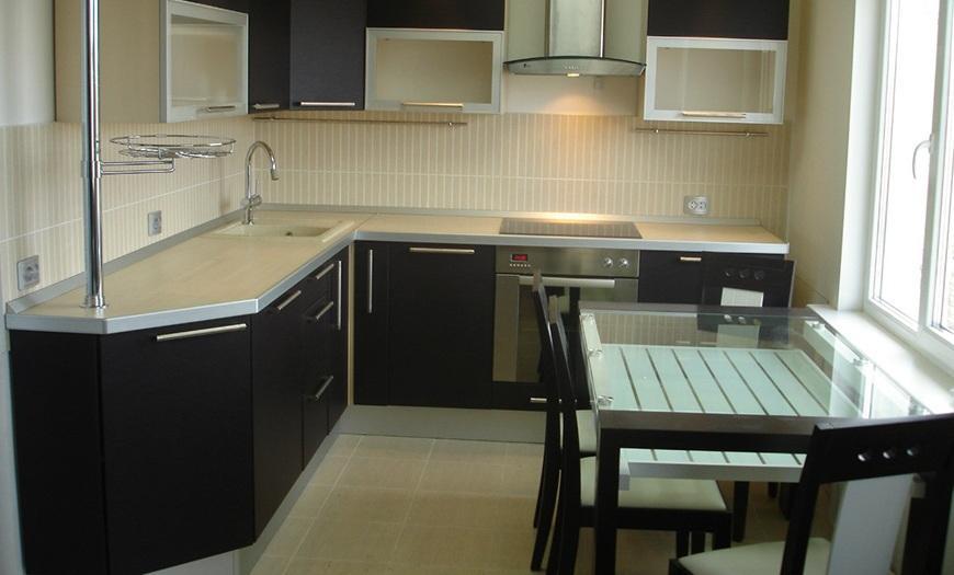 г-образная кухня 9м кв