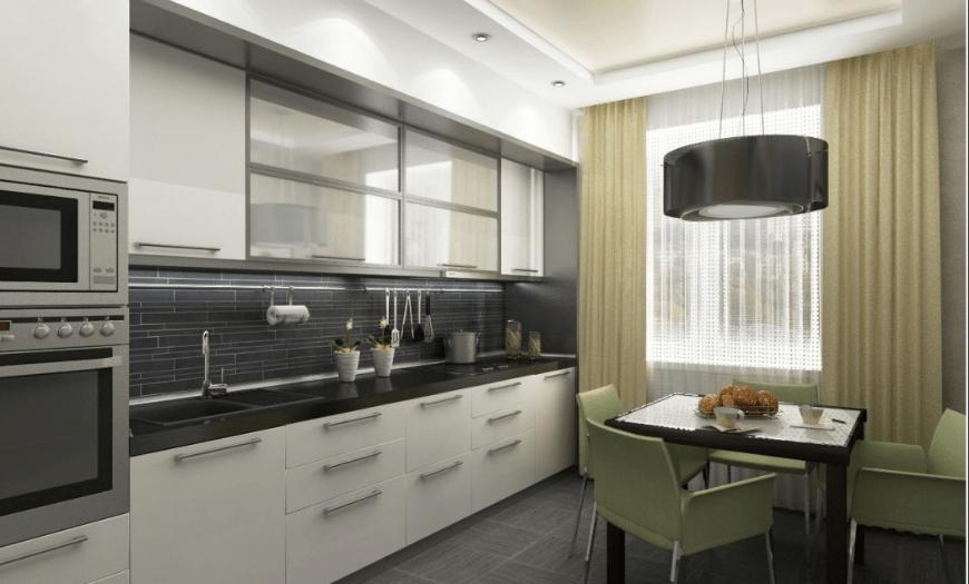 горизонтальные линии в дизайне кухни