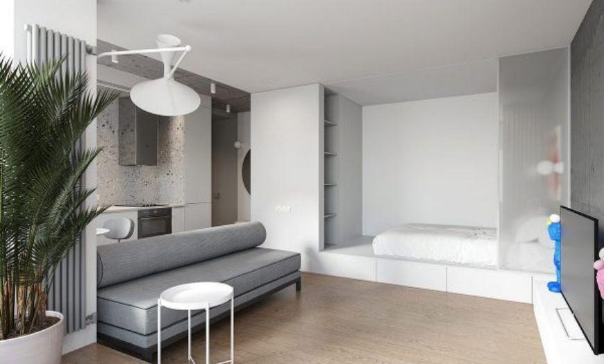 Квартира-студия в стиле минимализм