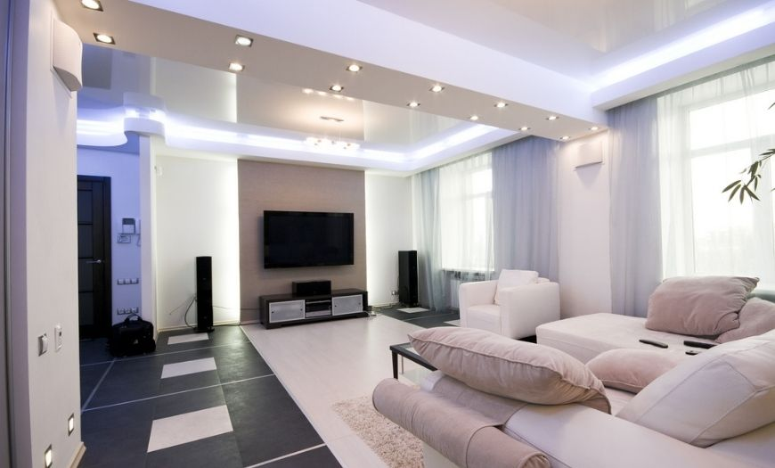 Квартира-студия освещение