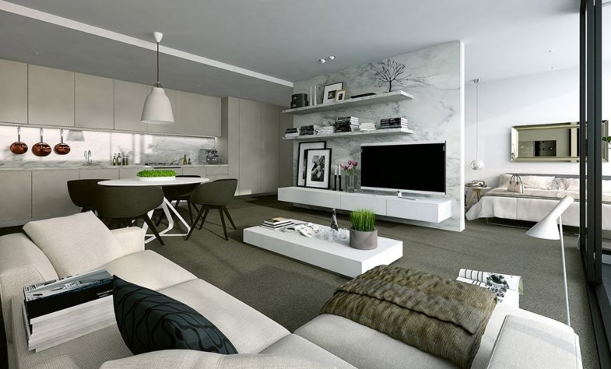 Квартира-студия в стиле модерн