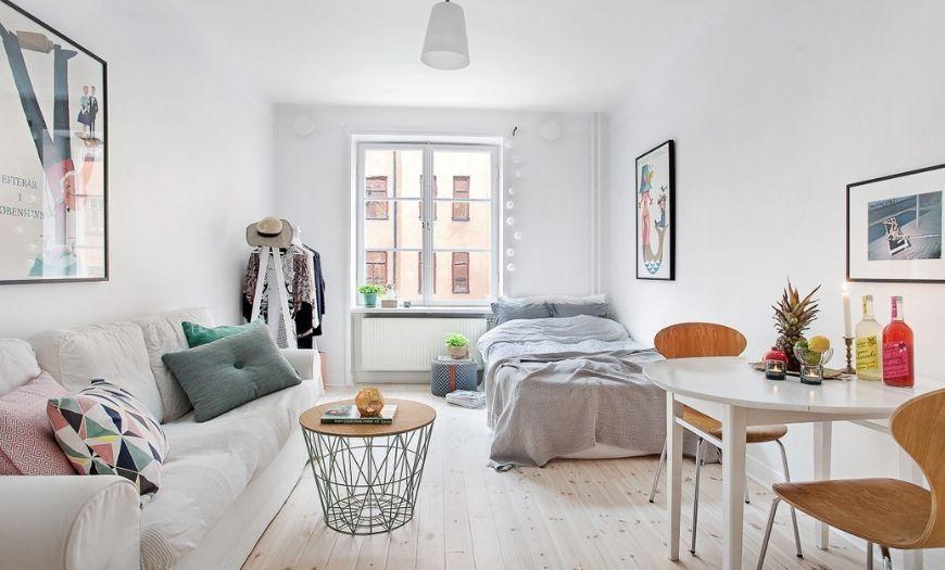 Модные стилевые решения квартиры-студии в светлых тоннах