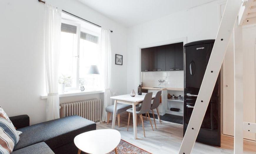 Квартира-студия в скандинавском стиле