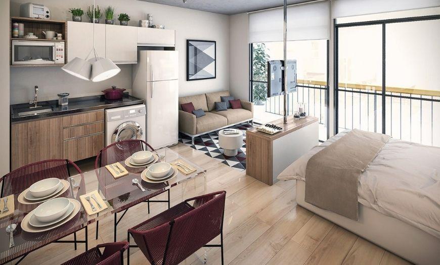 Планировка квартиры-студии.